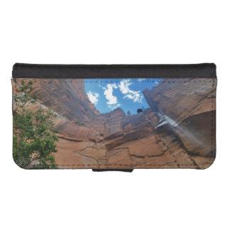 Weinender Felsen Zion Nationalpark iPhone SE/5/5s Geldbeutel Hülle
