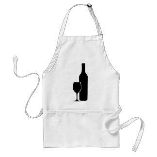 Weinflasche und -glas Vintnerikone Schürzen