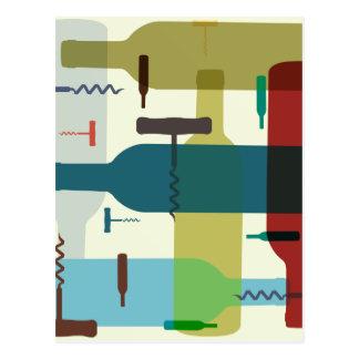 Weinflaschenentwurf Postkarten