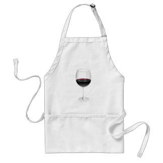 Weinglas glass wine schürze