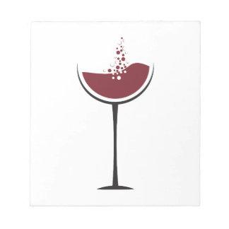 Weinglas Notizblock