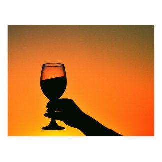 Weinglas Postkarte