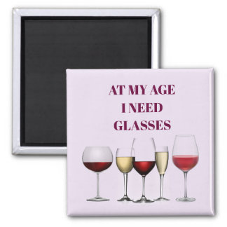 Weinglasausdruck Quadratischer Magnet
