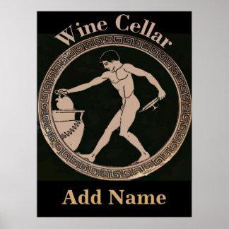 Weinkeller-alter Mann addieren Namen, Poster