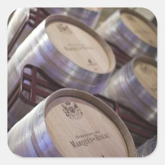 Weinkellerei Bodega Marques de Riscal, Weinkeller Quadratischer Aufkleber