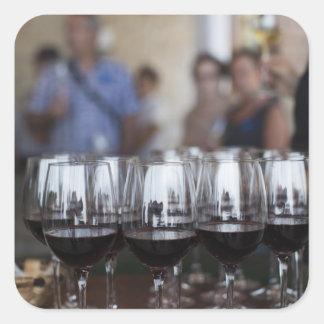 Weinkellerei Bodega Marques de Riscal, Weinprobe Quadratischer Aufkleber
