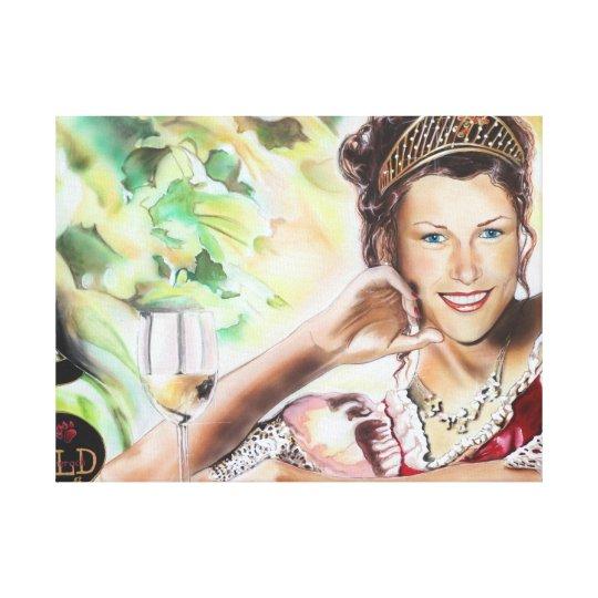 Weinkönigin Portrait - deutsche Weinkönigin Nicole Leinwanddrucke
