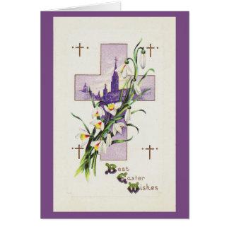 Weinlese-Ostern-Kreuz Karte