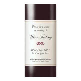 Weinprobe-Einladung 10,2 X 23,5 Cm Einladungskarte
