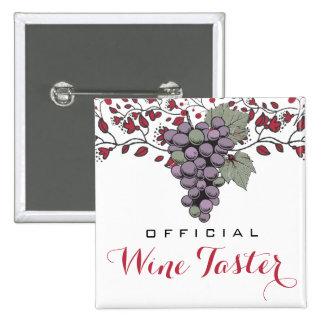 Weinprobeweinbergausflüge der Traubenreben Quadratischer Button 5,1 Cm