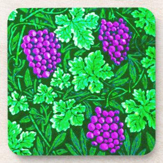 Weinstock Williams Morris, lila und grün Getränkeuntersetzer