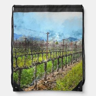 Weinstöcke in Folge in Napa Valley Kalifornien Sportbeutel