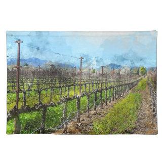 Weinstöcke in Folge in Napa Valley Kalifornien Tischset