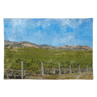 Weinstöcke in Napa Valley Kalifornien Tischset