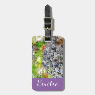 Weintrauben auf der Rebe Gepäckanhänger