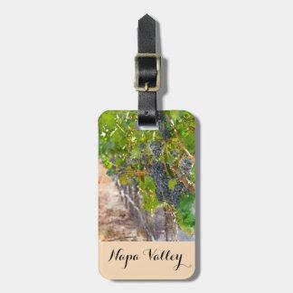 Weintrauben auf der Rebe in Napa Valley Kofferanhänger