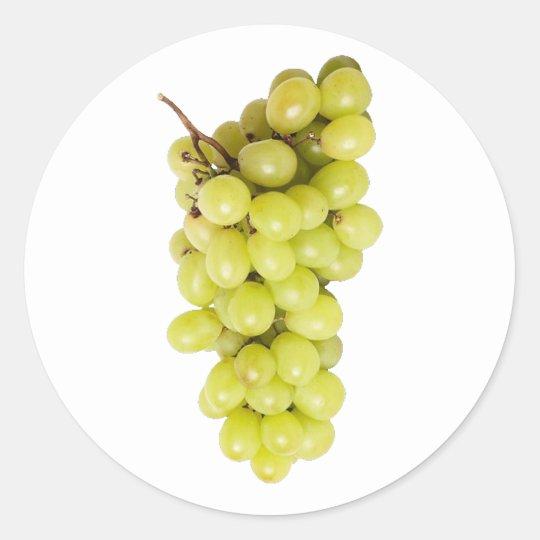 Weintrauben grapes runder aufkleber