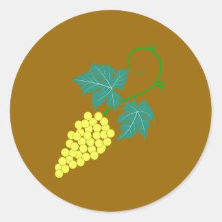 Weintrauben Rebe grapes grapevine Runder Aufkleber