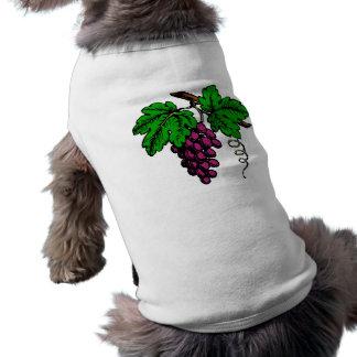 weintrauben rebe grapes vine ärmelfreies Hunde-Shirt