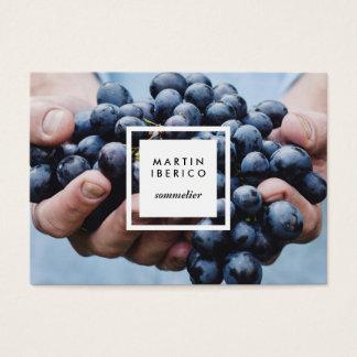 Weintrauben Sommelier oder Vintner-Visitenkarten Visitenkarte