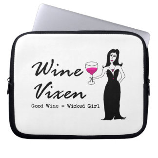 "WeinVixen ""guter Wein = böses Mädchen "" Laptop Schutzhülle"