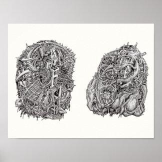 Weirdheads durch Brian Benson Poster