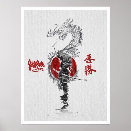 Weise der Samurais Posterdruck