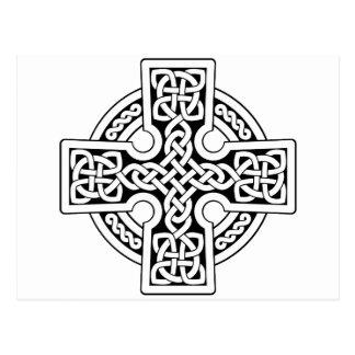 Weise des Celtic 4 Schwarzweiss Postkarte