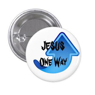 Weise JESUSS einer Runder Button 3,2 Cm