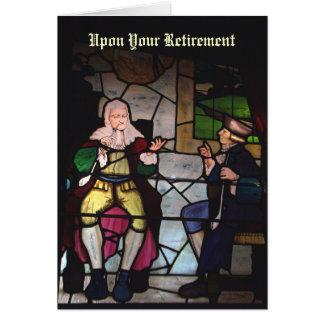 Weise Ruhestandskarte des Buntglases Karte