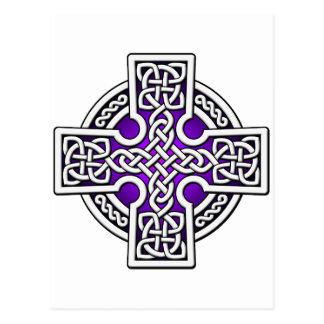Weisensilber des Celtic 4 und Lila Postkarte