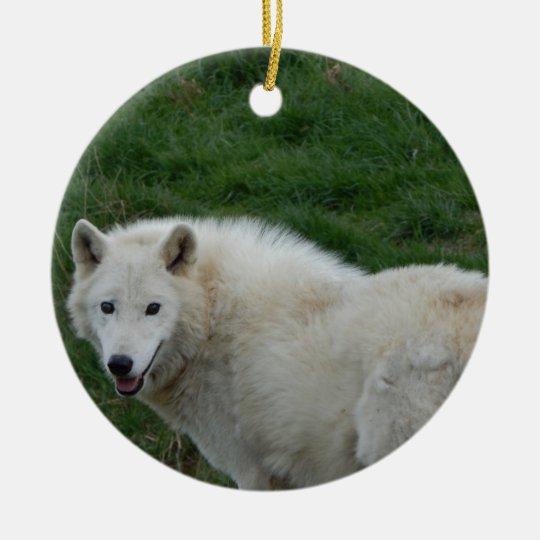 weiser wolf keramik ornament