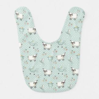 Weises Grün-Baby-Muster Babylätzchen