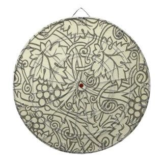 Weises Grün Grapevile William Morris Muster Dartscheibe