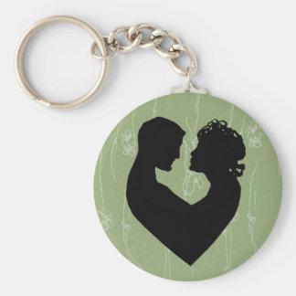 Weises Grün-Liebe Standard Runder Schlüsselanhänger