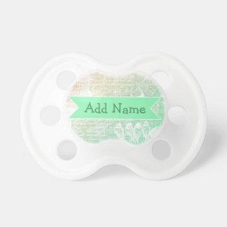 Weises Grün-personalisierter Baby-Schnuller Schnuller