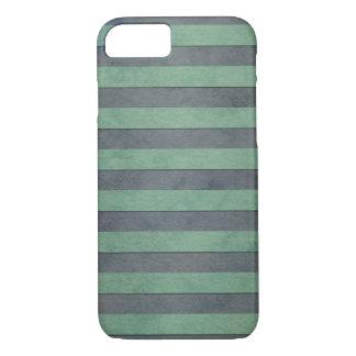 Weises Grün und graues Streifen-Muster iPhone 8/7 Hülle