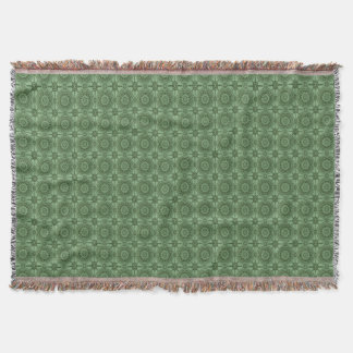 Weises Grün-Vintages geometrisches Blumenmuster Decke