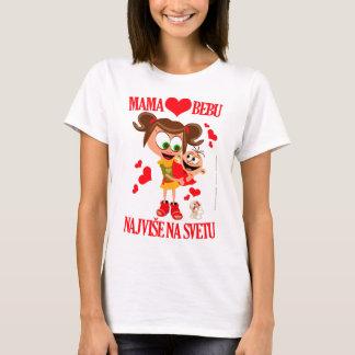 Weiß 01 Mutter-Voli Bebu (Mama-Liebe-Baby) T-Shirt