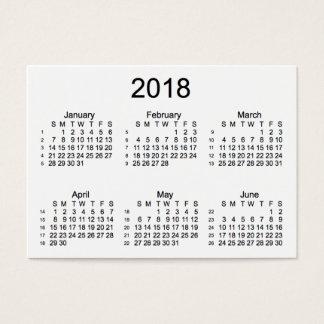 Weiß 2018 52 Wochen-Kalender durch Janz Visitenkarte