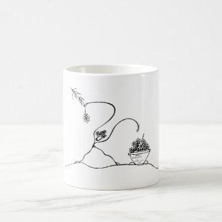 Weiß 325-ml-klassische weiße Tasse. Pflanzen Kaffeetasse