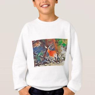 Weiß angebundene Damhirschkuh Sweatshirt