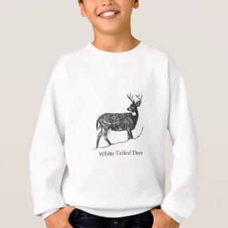 Weiß-Angebundene Rotwild Sweatshirt