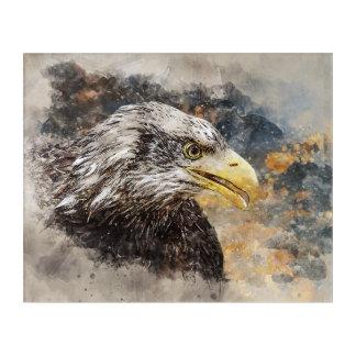 Weiß angebundener Adler Acryldruck