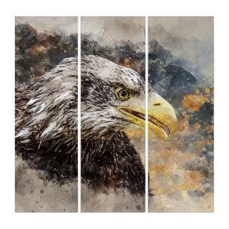 Weiß angebundener Adler Triptychon