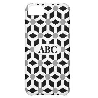 Weiß auf schwarzem mit Ziegeln gedecktem iPhone 5C Hülle