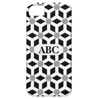 Weiß auf schwarzem mit Ziegeln gedecktem iPhone 5 Hüllen