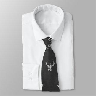 Weiß auf schwarzem Tier Krawatte