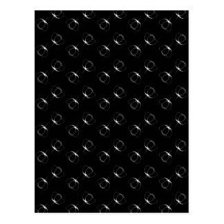 Weiß auf schwarzer Butterblume Postkarte