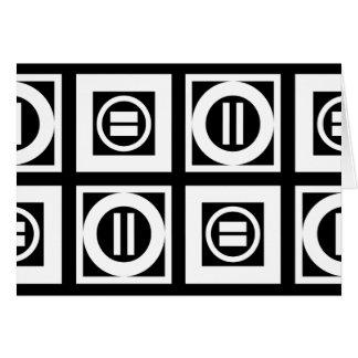 Weiß auf schwarzer geometrischer karte